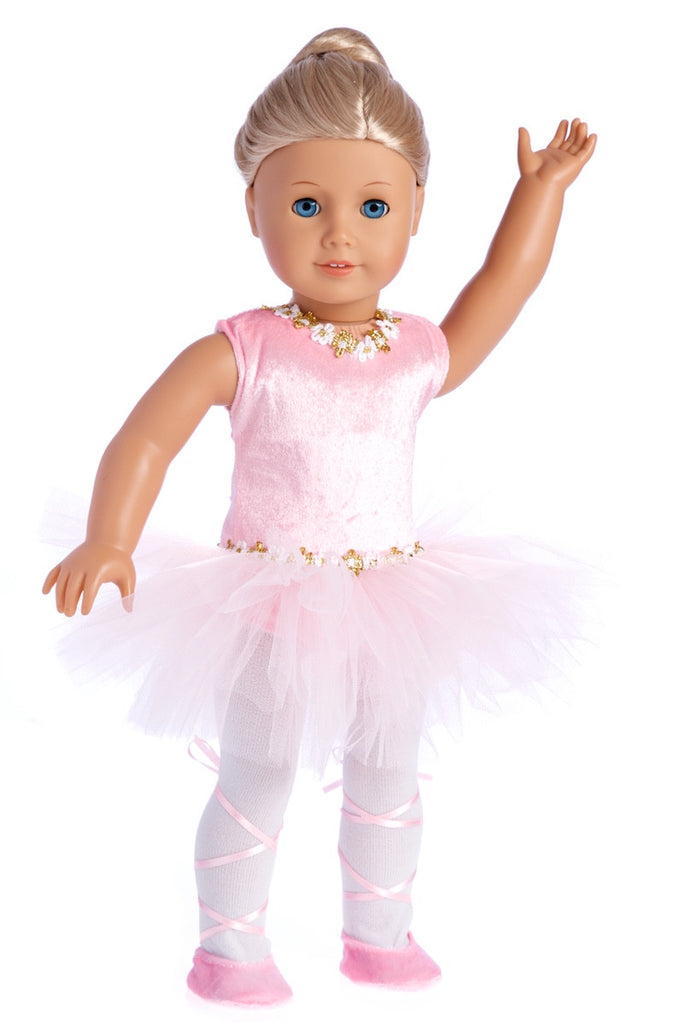 "Pink Ballerina Set Fits 18/"" American Girl Dolls"