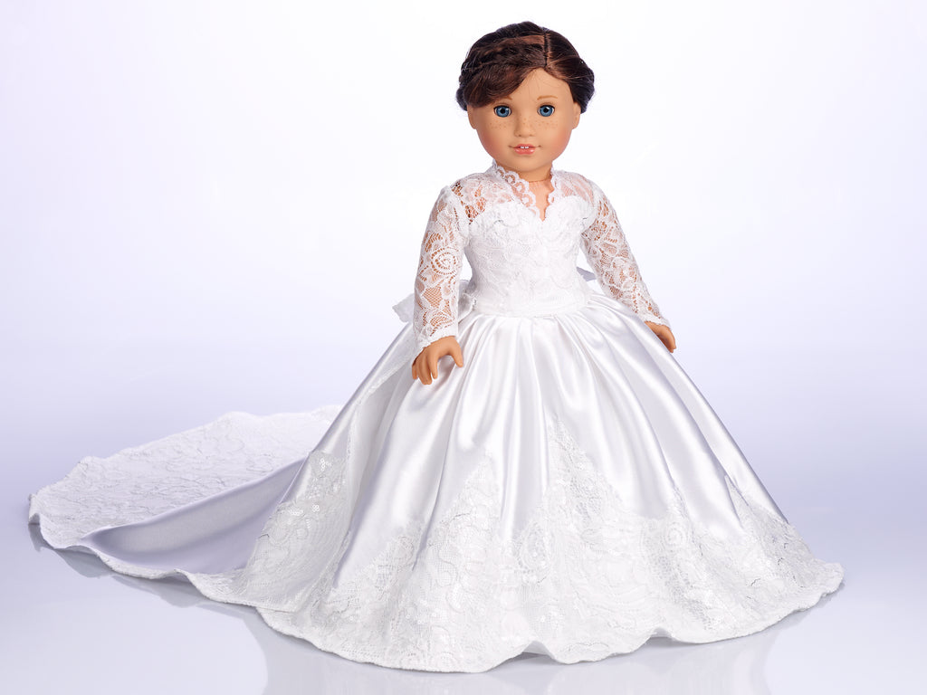 Princess Kate Custom Wedding Gown for 18 inch American Girl Doll
