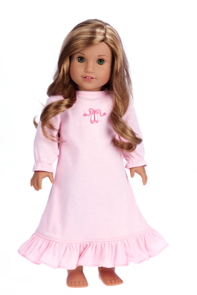 Sweet Dreams - 18 inch American Girl Doll Clothes - Pink Nightgown ...