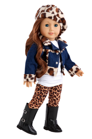 Soccer Girl -  Clothes for 18 inch Doll - 4 Piece Outfit - Shirt, Shorts, Socks and Shoes
