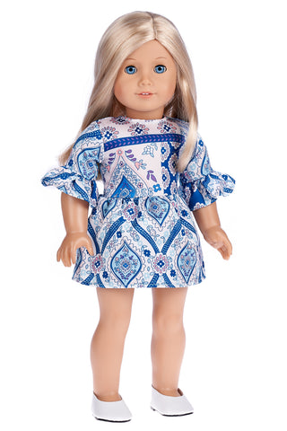 Romantic Moment - Dark Blue Dress for 18 inch American Girl Doll