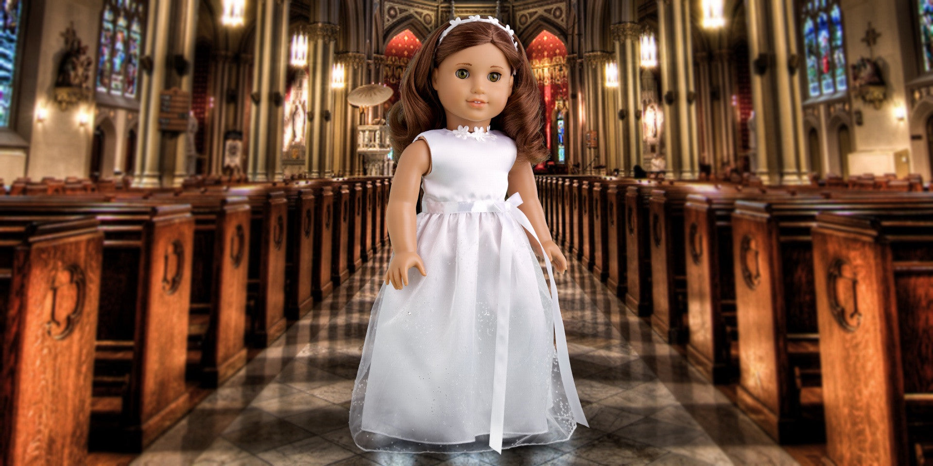 My First Communion - Doll Clothes - Horseback Riding Doll Outfit