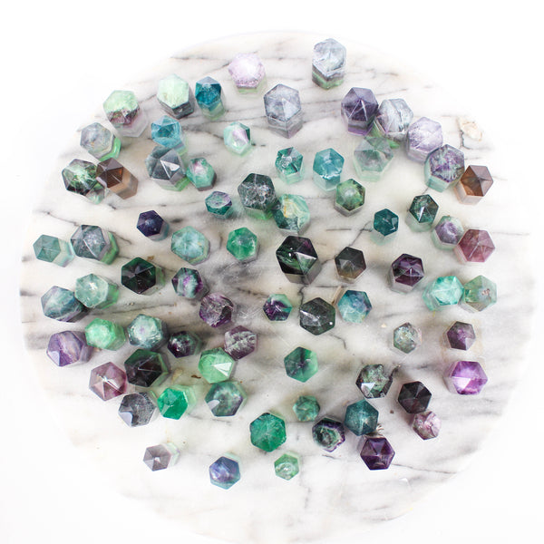 Green and Purple Fluorite Points - Extra Small