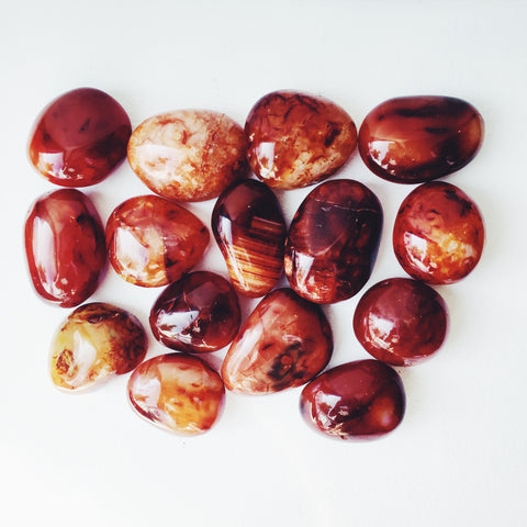 Carnelian Pebbles and Spheres