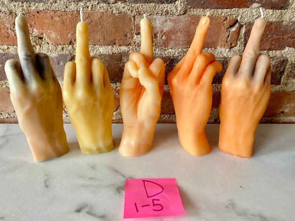 Middle Finger Candle