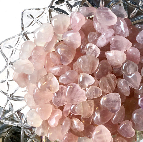 Rose Quartz Hearts - Small