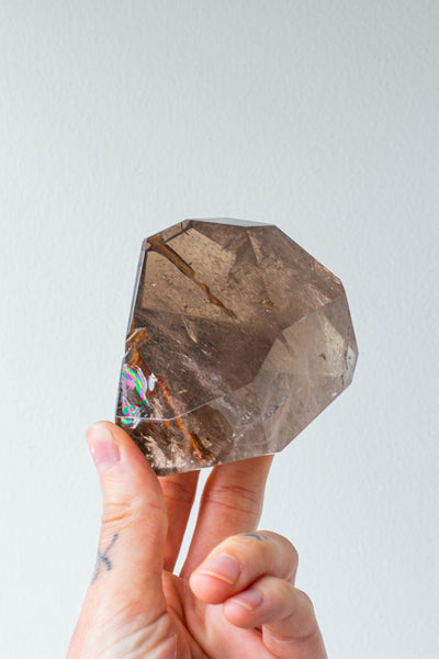 Fancy Shapes- Clear Quartz & Dark Smoky Quartz
