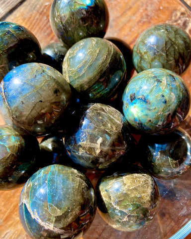 Labradorite Spheres - Small