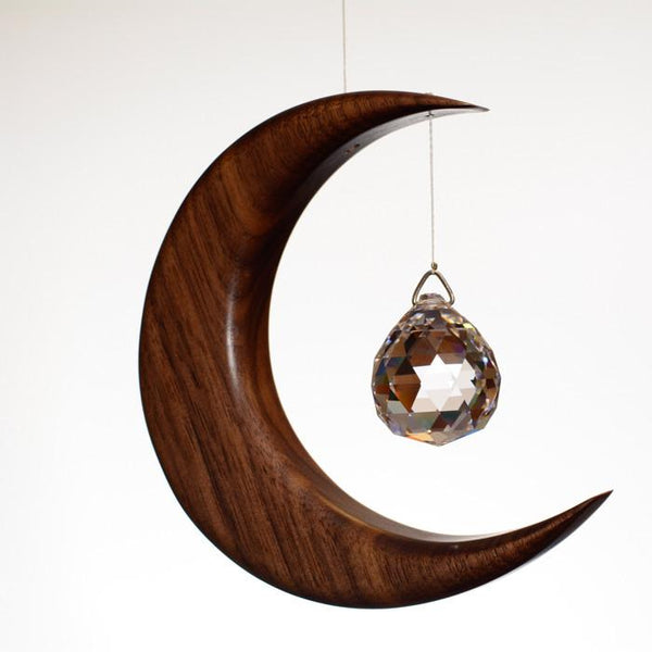Wooden Moon Suncatcher
