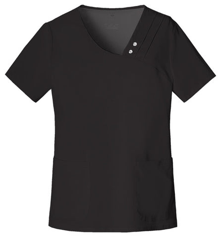 1999 - Crossover V-Neck Pin-Tuck Top