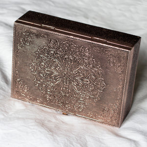 Mandala Copper Jewellery Box