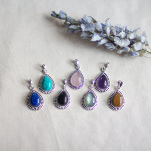 Teardrop Crystal Pendants S/S