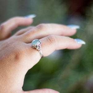 Aquamarine S/S Ring (5)