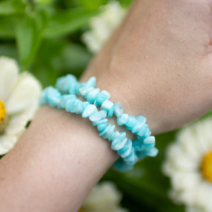 Amazonite Polished Chip Bracelet