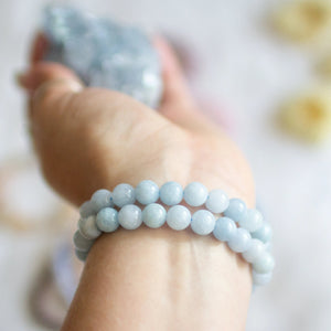 Aquamarine Beaded Bracelet