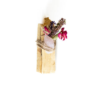 Palo Santo with Rose Quartz