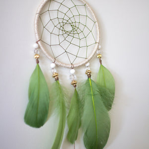 Olive Dreamcatcher with Howlite