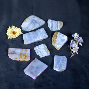 Blue Lace Agate Slices