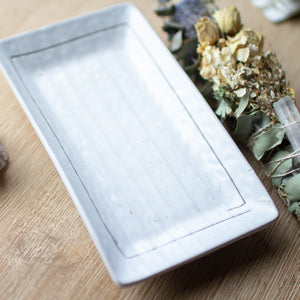 Grey Medium Smudging Dishes