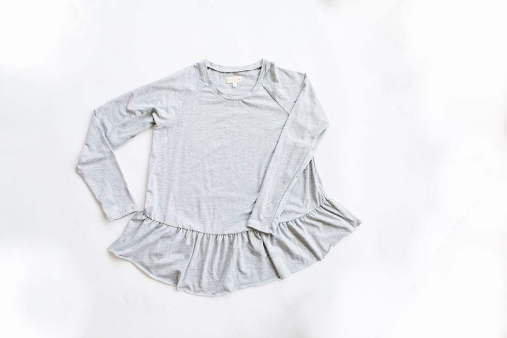 PRE-ORDER Mommy & Mini - Mommy Peplum Top CLOSED