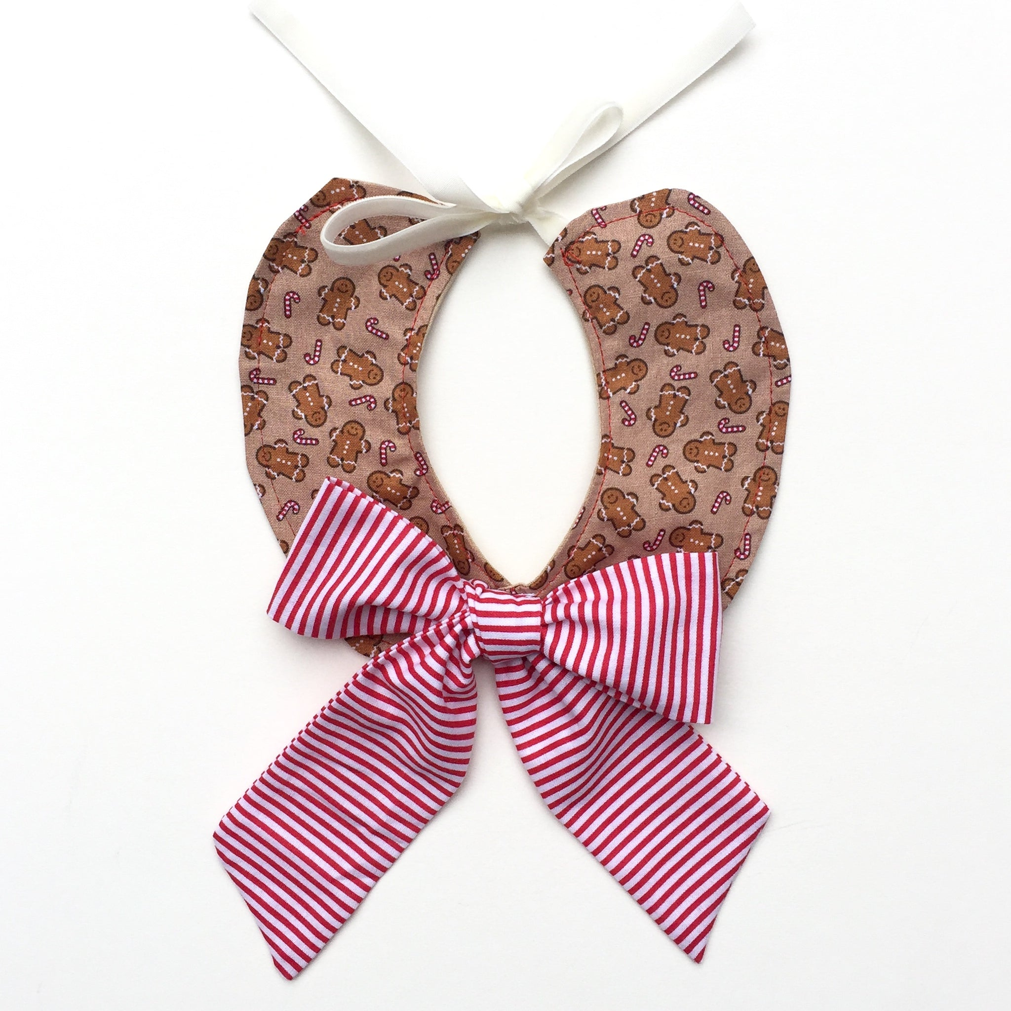 Gingerbread Bow Collar