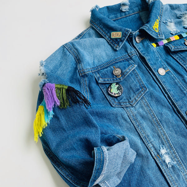 Custom Hand Embroidered Jean Jacket