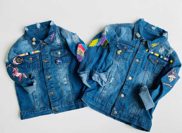 Custom Hand Embroidered Jean Jacket - 1st payment - Annika S.