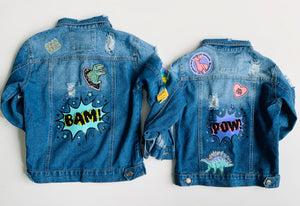 Custom Hand Embroidered Jean Jacket - 1st payment - Abigail G.