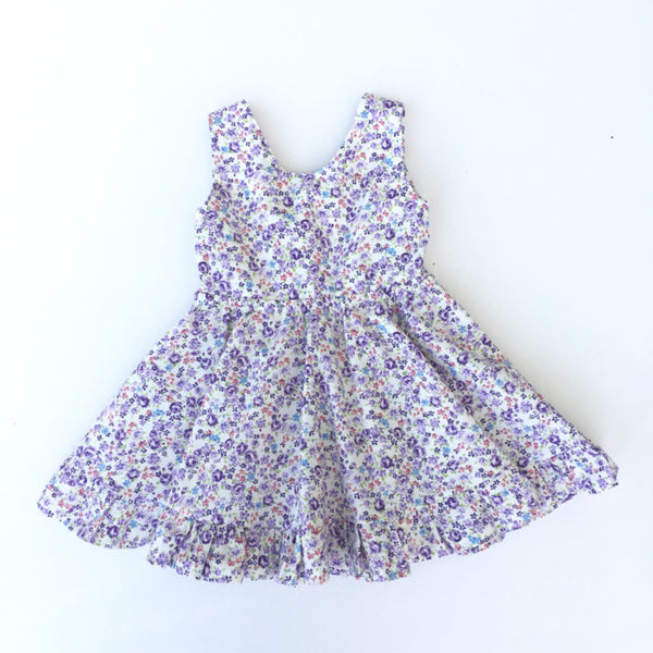 Emilia Dress - Purple Floral Print