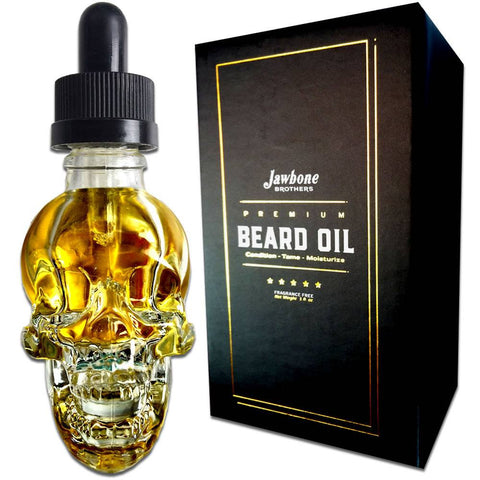 Beard Oil - Luxury 100% Natural Beard Oil In Designer Bottle And Gold Trim Box