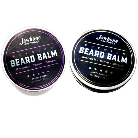 Health And Beauty - 2 Premium Men's Beard Balms - Chill-Zone Lavender Beard Balm & Zesty Energizing Citrus Beard Balm
