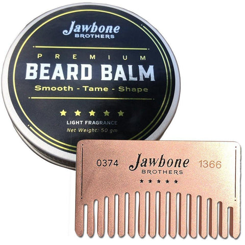 Health And Beauty - Energizing Citrus Beard Balm + Stainless Steel Beard Comb