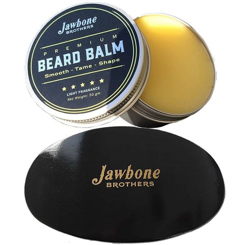 Health And Beauty - Energizing Citrus Men's Beard Balm + Hand Crafted Wooden 100% Boar Bristle Brush