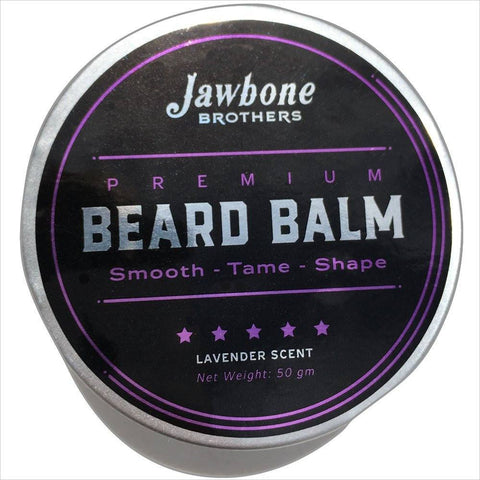 Health And Beauty - Lavender Men's Beard Balm + Beard Brush Hand Crafted Wooden Made With 100% Natural Boar Bristles