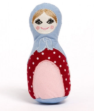 Babushka Rattle - Blue - Little Me Little You