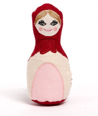 Babushka Rattle - Red