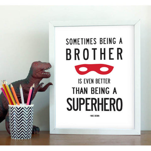 Brother Superhero Print - Little Me Little You