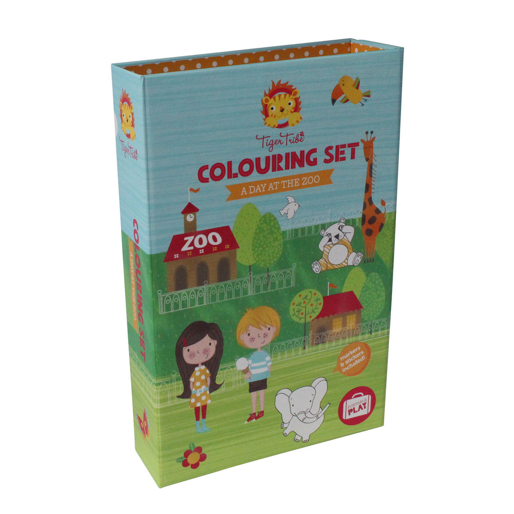 Colouring Set - A Day At The Zoo - Little Me Little You