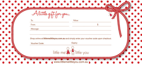 Gift Voucher - Little Me Little You