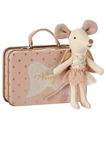 Maileg Guardian Angel Mouse in a Tin - Little Me Little You
