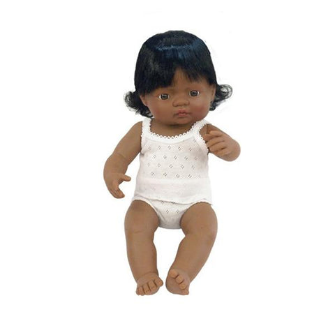 Anatomically Correct Baby Doll - Latin American Girl - 38cms - Little Me Little You