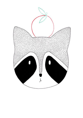 Mr Raccoon - A4 Print - Little Me Little You