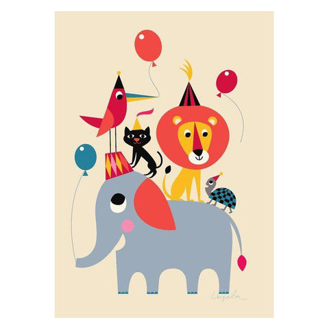Animal Party Wall Poster