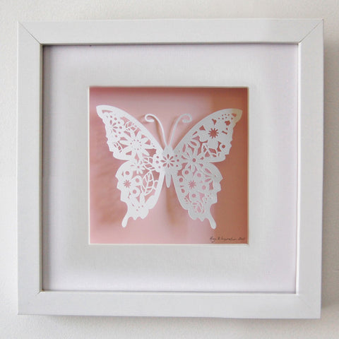 Butterfly Paper Art Print - Little Me Little You