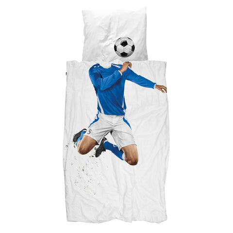 Snurk Quilt Cover Set - Soccer Champ - Blue