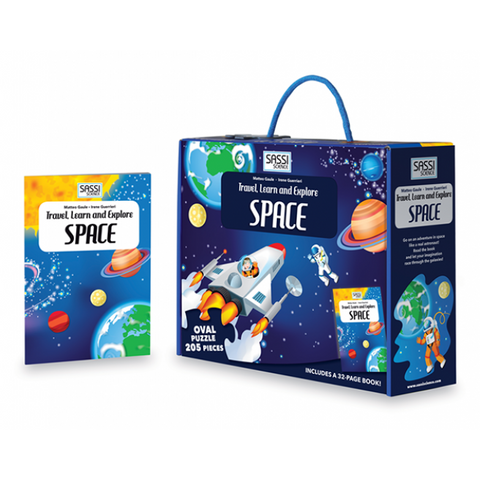Travel, Learn and Explore Space Puzzle