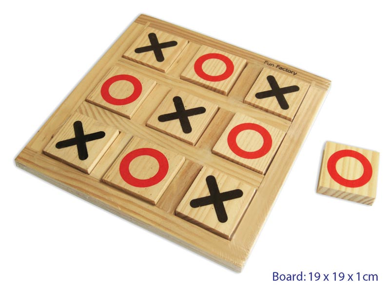 Wooden Noughts and Crosses game - Little Me Little You