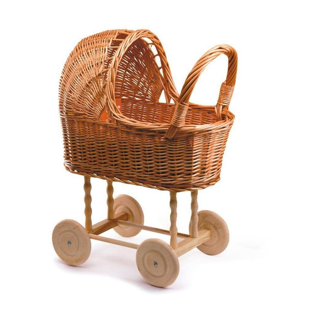 Egmont Whicker Pram with Bedding