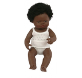 Anatomically Correct Baby Doll - African Girl - 38cms