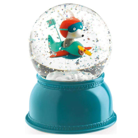 Djeco Airplane Snow Globe Night Light - Little Me Little You